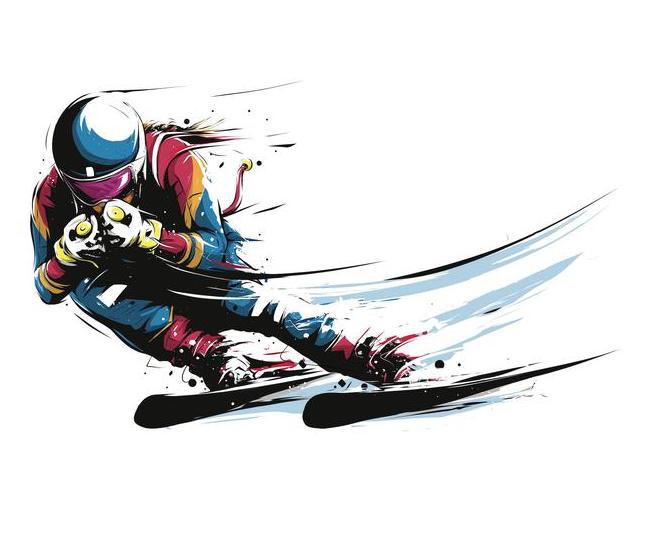 滑雪插画设计.png